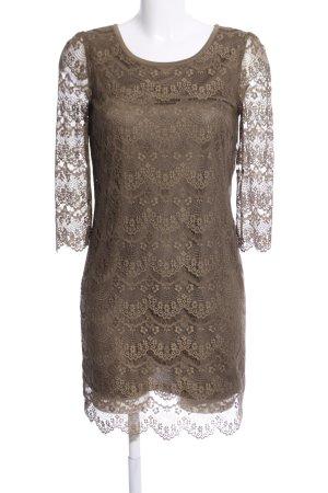 Saint Tropez Vestido de encaje marrón elegante
