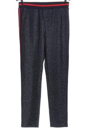 Saint Tropez Pantalon en jersey bleu-rouge style décontracté