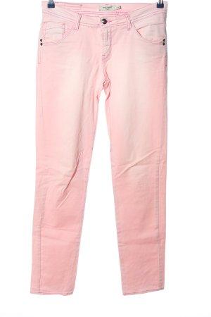 Saint Tropez Spodnie ze stretchu różowy W stylu casual