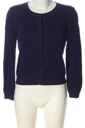 Saint Tropez Cardigan tricotés bleu imprimé allover style décontracté