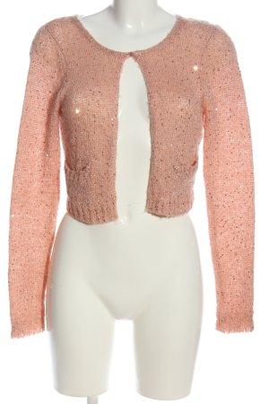 Saint Tropez Cardigan tricotés rose chair torsades style décontracté