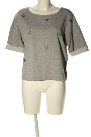 Saint Tropez T-Shirt hellgrau meliert Casual-Look