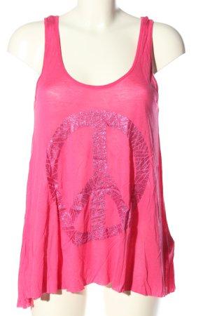 Saint Tropez Tanktop pink Motivdruck Casual-Look