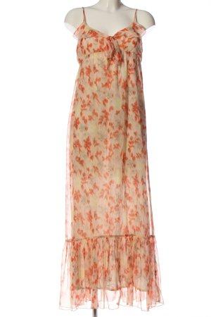 Saint Tropez Vestido tipo overol blanco puro-naranja claro estampado floral