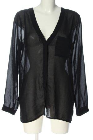 Saint Tropez Transparent Blouse black casual look