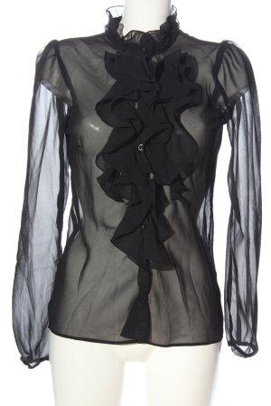 Saint Tropez Transparentna bluzka czarny W stylu casual