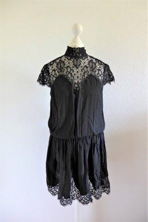 Saint Tropez vintage Spitze Boho Kleid schwarz Gr. M S 36/38 neu