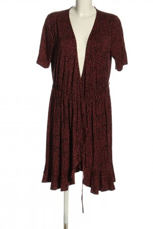 Saint Tropez Vestido cruzado rojo-negro elegante
