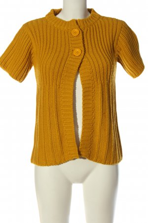 saix Short Sleeve Knitted Jacket light orange cable stitch casual look