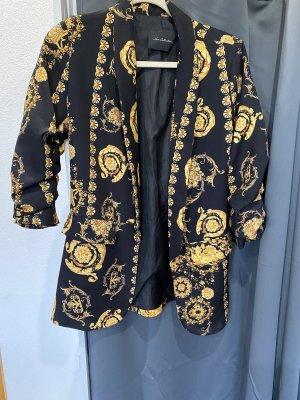 Blazer de esmoquin negro-color oro
