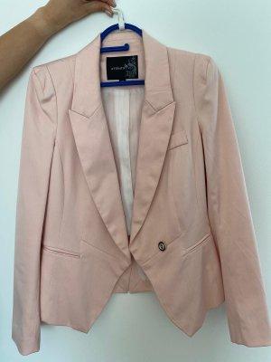 Blazer de esmoquin color rosa dorado