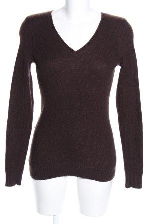 Fifth Avenue V-Ausschnitt-Pullover braun Casual-Look