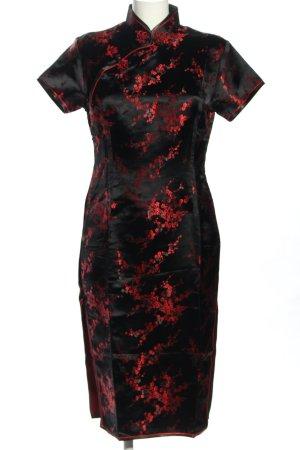 Sakura Qipao negro-rojo look casual