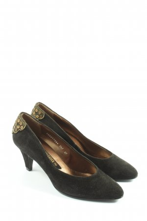 Salamander High Heels schwarz-goldfarben Casual-Look