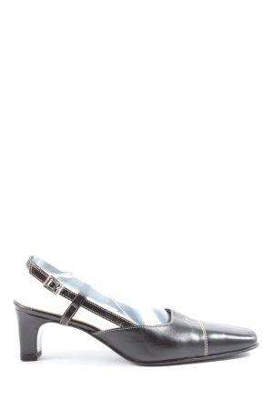 Salamander Slingback-Pumps schwarz-wollweiß klassischer Stil