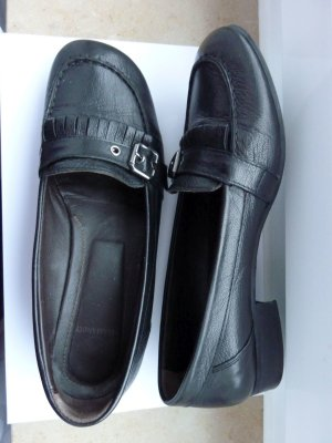 Salamander Slippers black-silver-colored leather