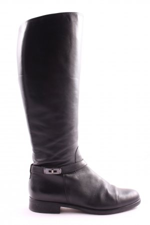 Salamander Bottes à tige large noir-argenté style d'affaires