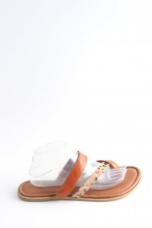 Salamander High-Heeled Toe-Post Sandals light orange-natural white casual look