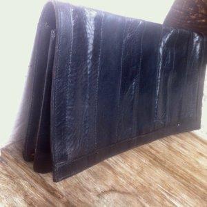 sale-20.1. Vintage Leder #Clutch,80's, in sehr gutem Zustand, schwarz