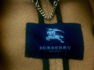 Burberry London Pilotenjas zandig bruin Wol