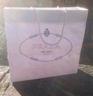Prada Shopping Trolley white-black