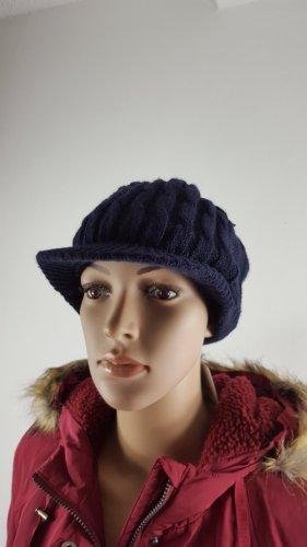 Cappello con visiera blu scuro Acrilico
