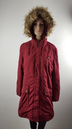 Cheer Quilted Coat carmine polyester