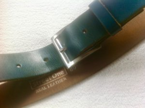 Street One Leather Belt petrol leather