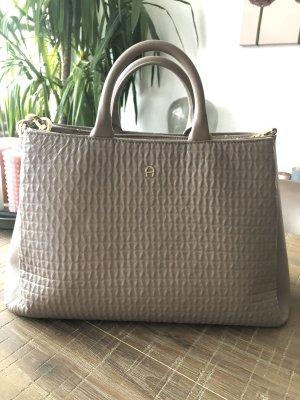 Aigner Handbag grey-dark grey leather