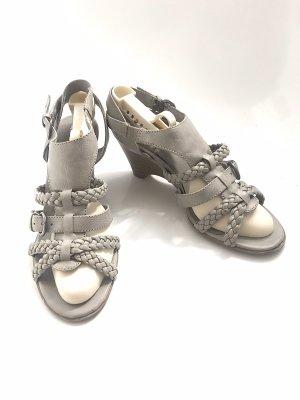 Ariane Sandales à talons hauts et lanière gris clair-gris brun