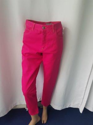 Bitte Kai Rand Hoge taille jeans framboosrood Katoen
