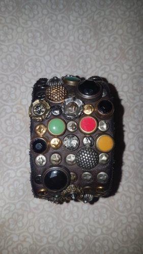 Campomaggi Bracelet en cuir multicolore