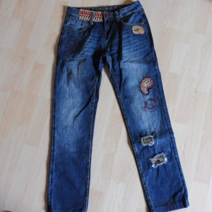 SALE ! Desigual Jeans Skinny 7/8 JEANS GR w 24 LUXUS PUR