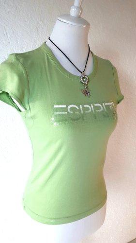 Sale%% ESPRIT Shirt, Pailletten, grün, Gr. S