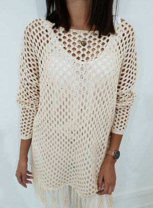 Crochet Sweater light pink