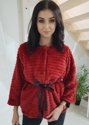 Fake Fur Jacket red