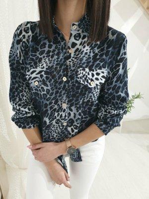 Shirt Blouse dark blue-white
