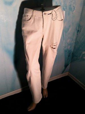 Sale! Mexx Jeans Gr 31 ( 40) Chino Slim Leg Risse Cremeweiß