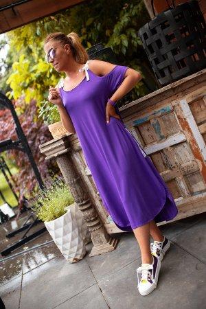 Bastet Sukienka midi fiolet-niebiesko-fioletowy