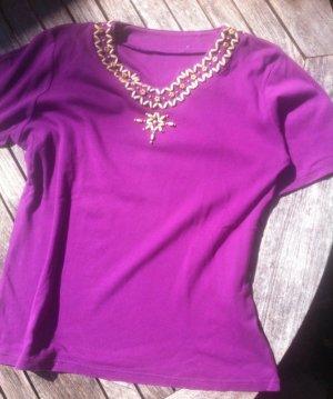 sale: neuwertig, kaum getrg!, fuchsiafarben Shirt 42,