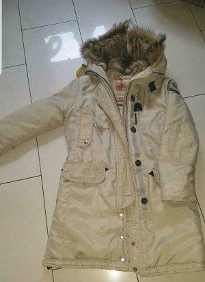 SALE Parajumpers PJS Daunen Mantel Jacke Masterpiece Fell Kaputze true pme liu style
