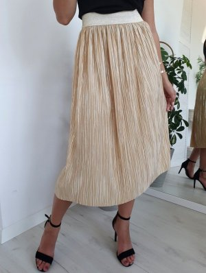 Pleated Skirt gold-colored