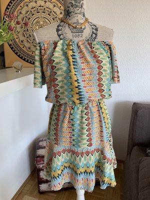 Koucla Off-The-Shoulder Dress multicolored