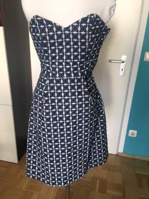 Sale! Schickes blau-weiß gemustertes Kleid von Mango Collection, hochwertige Baumwolle, XS