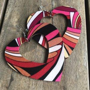 Sale Schnäppchen NEU!!! Herzchen Herz Ohrhänger große Statement Ohrringe von Heine Ohrhänger Knaller Farben bunt farbenfroh schwarz rosé rosa pink rot