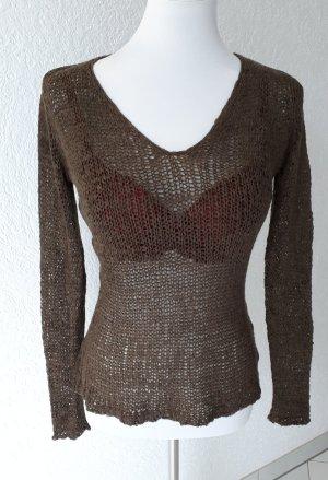 Sale%% schöner Netz - Pullover,Pulli,durchsichtig,S/36