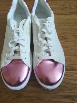 SALE! stylische Sneakers  weiss mit Rosa (Plateau)