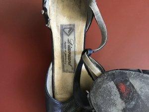 ‼️ SALE ‼️ Tanzschuhe / Riemchensandalen von DIAMANT - Gr. 38 / 5cm - schwarzes Leder