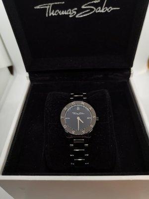 Thomas Sabo Horloge met metalen riempje zwart-zilver