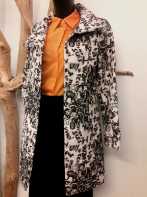 Desigual Trench Coat white-black